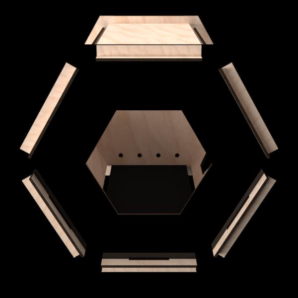 ESA Lounge Faggio Black Front